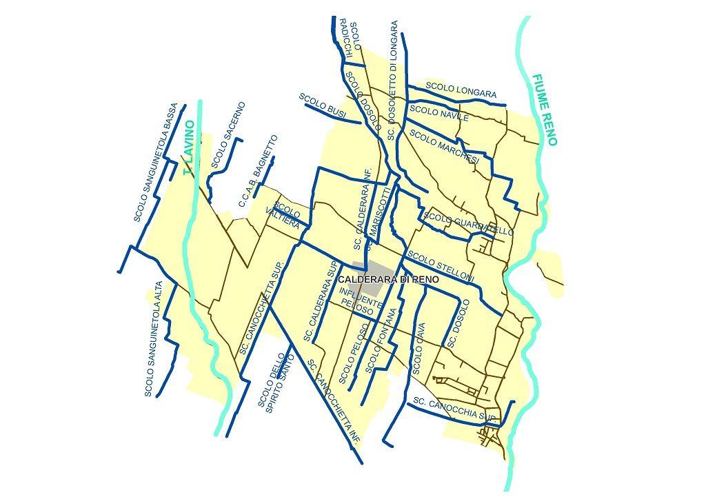 mappa-idrografica-calderara-di-reno